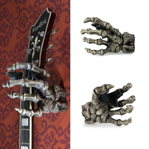 skeleton hand guitar holder