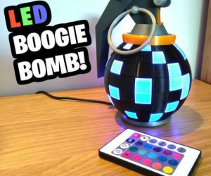 Fortnite LED Boogie Bomb – Here we have a Fortnite Boobie Bomb desk/night lamp, with multi-color LED lights all controllable by remote, perfect gift for the game lover!