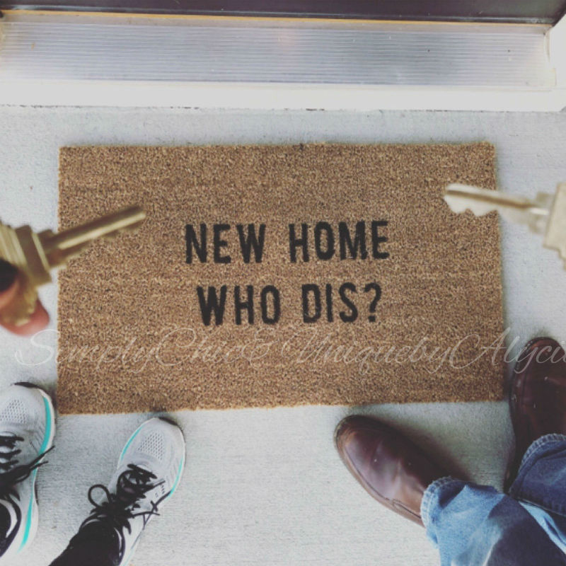 new home who dis doormat