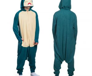 Pokemon Snorlax Onesie – Comfy enough to sleep all day in.