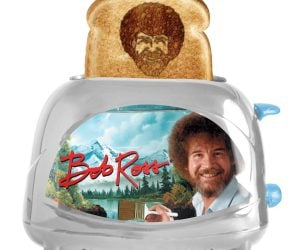 Bob Ross Toaster – Make happy little toast at home. Drop bread into the slots, press the lever, and before you know it, up pops toast with Bob Ross's face