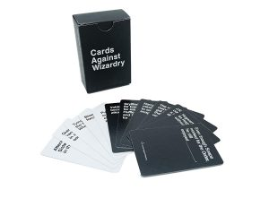Cards Against Humanity Harry Potter Edition – This amazing, original, and creative game comes with 118 cards to play with, as well as a shrink wrap container to store them