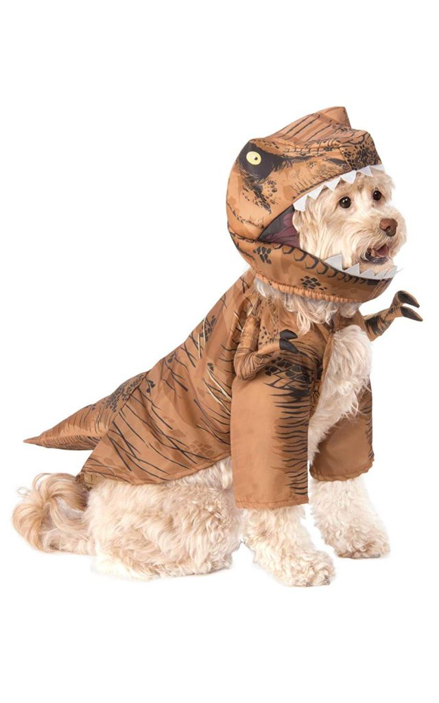 t-rex dog costume