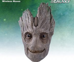 Inspired from Marvel's film, the Groot wireless mouse has an unique design, it is a must-have gift for Guardians of the Galaxy fans.
