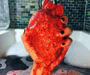 Anatomically Correct Heart Bath Bomb – Screw those fake looking hearts you're gonna bathe with the real thing. Cherry scented made with poly 80, sunflower seed oil, fragrance oil, kaolin clay,
