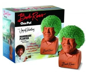 Bob Ross Chia Pet – The Joy of Painting star joins the Chia family