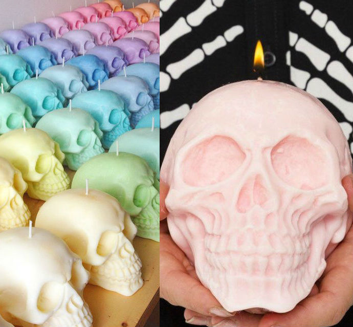 giant skull candles