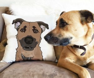 Personalized Dog Pillow – Put your best friend's face on a pillow! When you buy this item, you'll receive ONE custom pet illustration of your furry family member on a