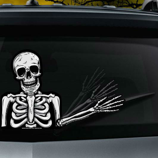 skeleton wiper tag decal