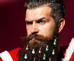 Beardaments Beard Ornaments – Express Your Holiday Joy by Adding Fun, Vibrant Colors to Your Beard. Beardaments are a fun gift to go along with that ugly Christmas sweater, and make