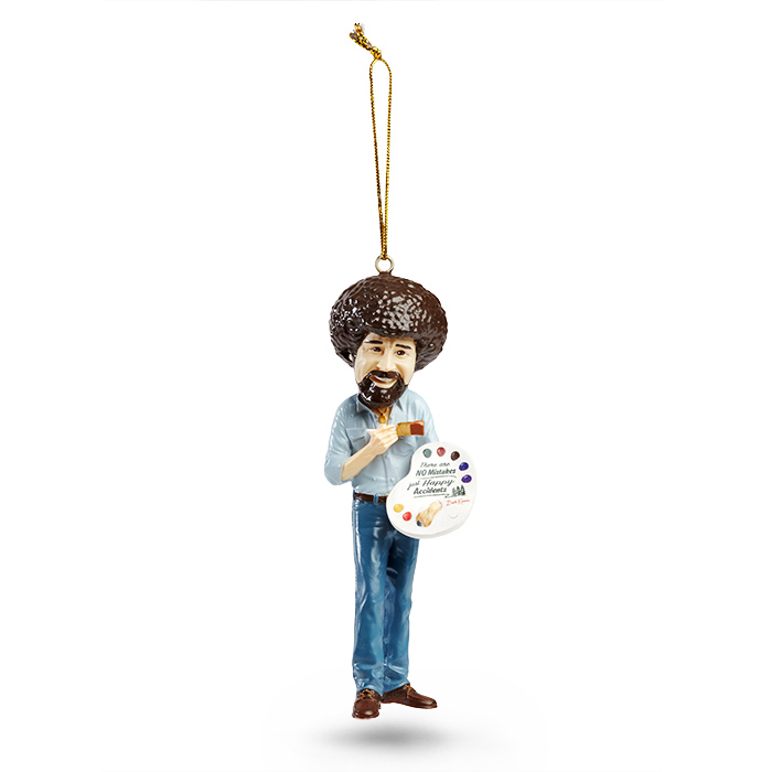 bob ross christmas tree ornament