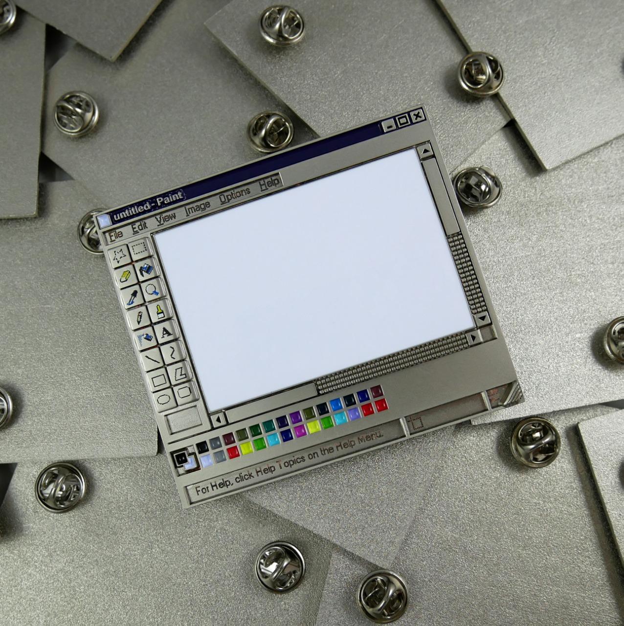Ms Paint Enamel Pin