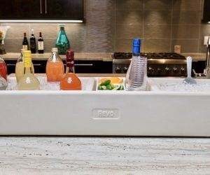The REVO Party Barge is like having a vending machine on ice! It is the best Party Cooler for displaying beverages.  Everything is visible and easily accessed without getting
