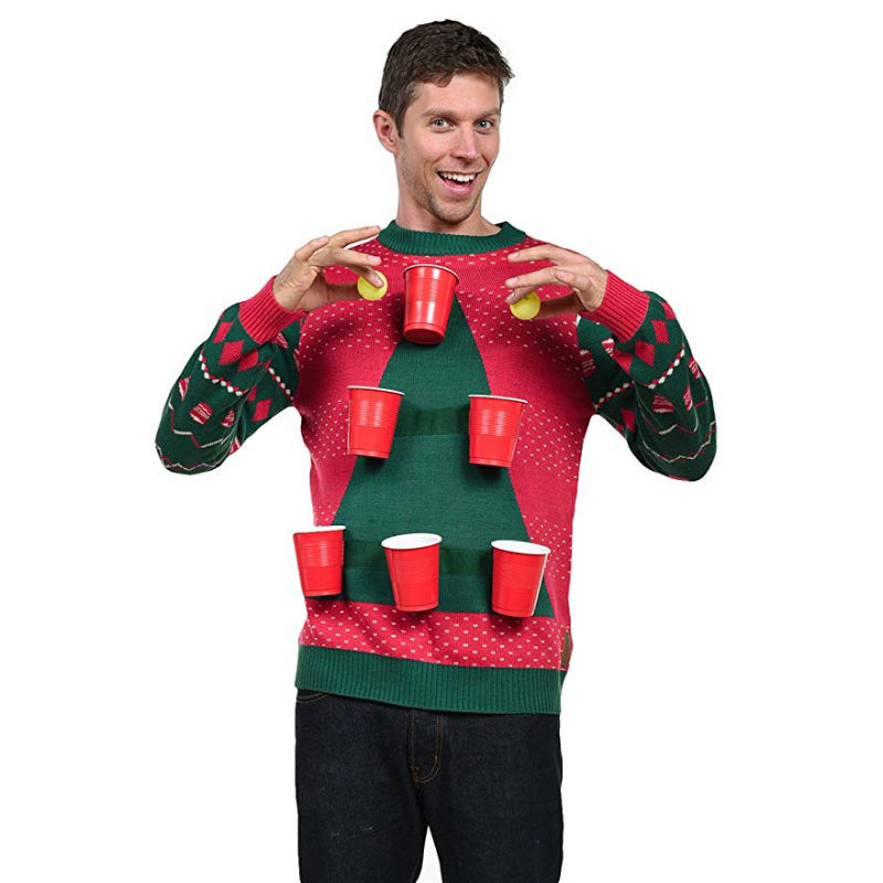 Beer Pong Ugly Christmas Sweater - Shut Up And Take My Money