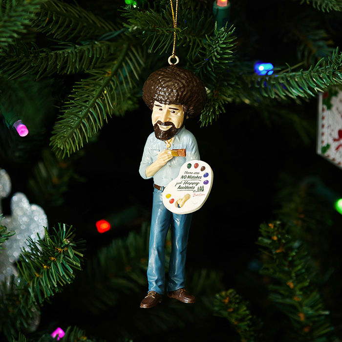 bob ross christmas tree ornament