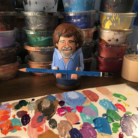 bob ross paintbrush and pencil holder