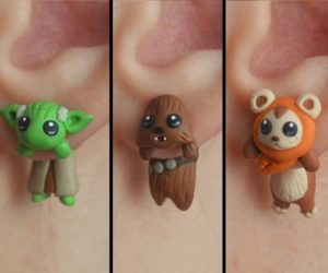 Star Wars Earrings – Hang Yoda, Chewy, or an Ewok from your ears with these polymer clay made earrings