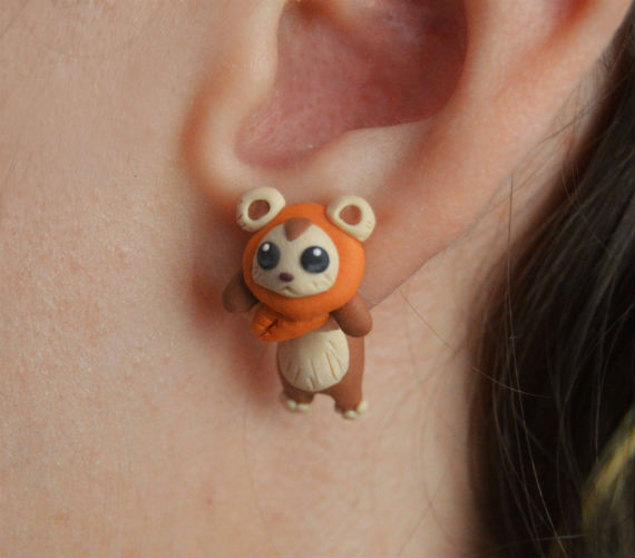 ewok earrings