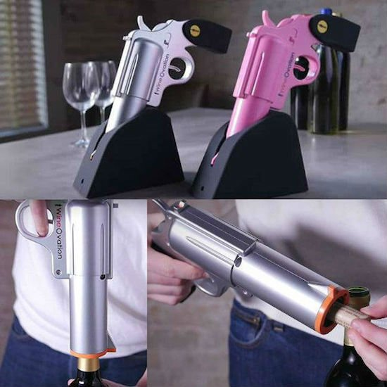 wineovation gun wine bottle opener