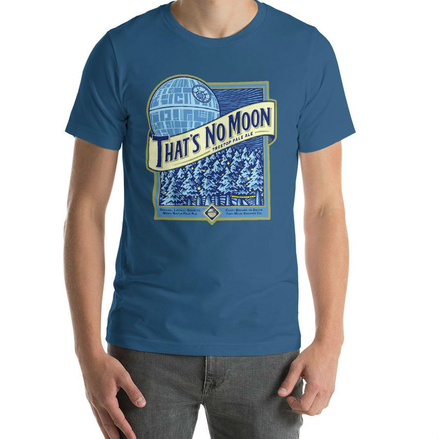 thats no moon star wars beer shirt