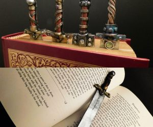 Sword Book Blade Bookmarks – Mark the pages of your quests with a sword suitable for any adventurer. These Book Blades Bookmarks series are customizable and made to order.