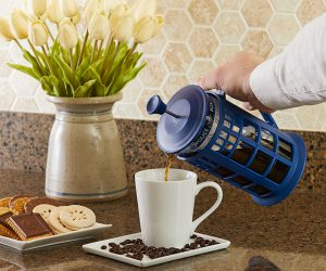 Doctor Who TARDIS Coffee Press – This Whovian French press brews 34 ounces of coffee goodness…