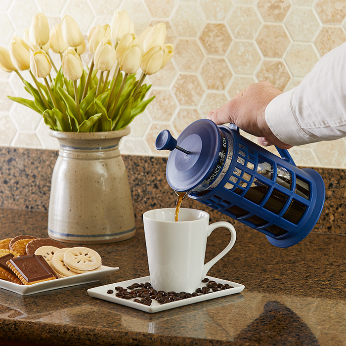 tardis coffee press