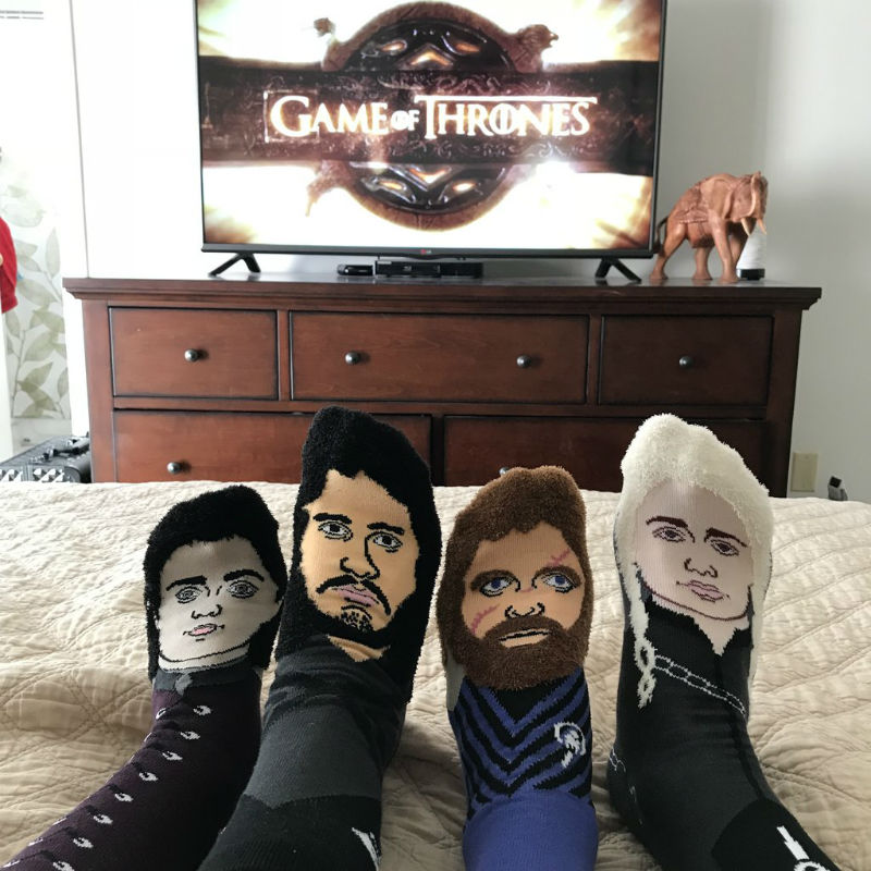 game of thrones face socks