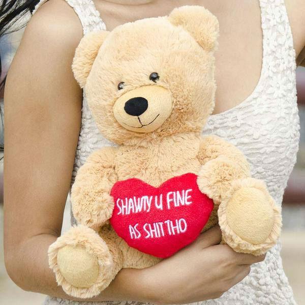 shawty u fine plush bear valentines day gift
