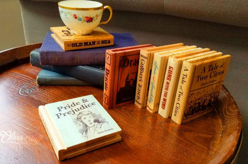wooden coaster books