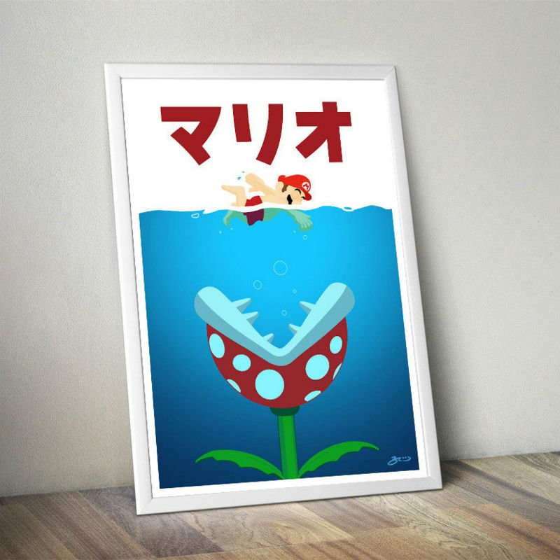mario jaws poster 2