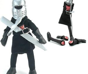 Monty Python Black Knight Plush –Just as strong and skilled as the one in the movie, which is to say, you can tear his limbs off.