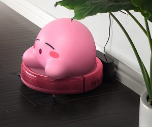 Kirby Roomba – Kirby's hunger is never-ending. He's inhaled enemies, friends, blocks, bricks, and food. But he's not satisfied. He wants more. He wants… to clean your house.