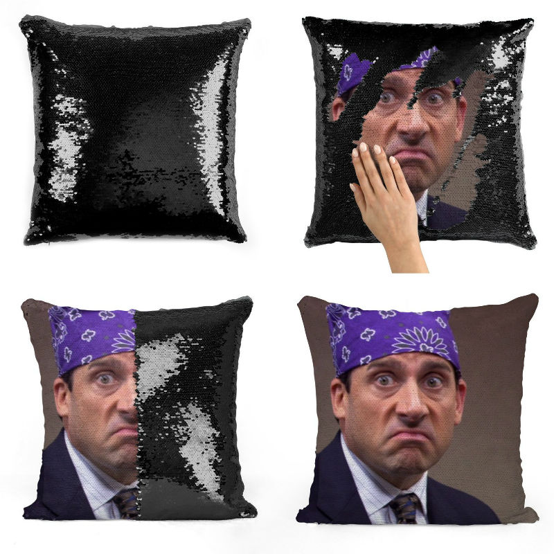 prison mike sequin pillow