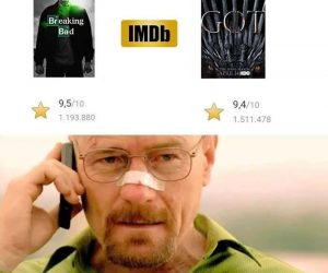 Breaking Bad vs Game of Thrones IMDB rating I won