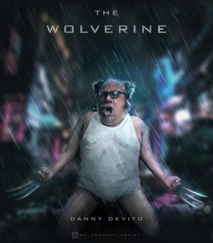 danny devito wolverine movie poster