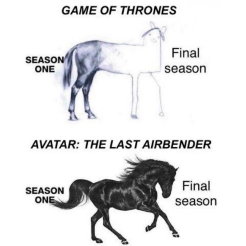 game of thrones vs avatar the last airbender