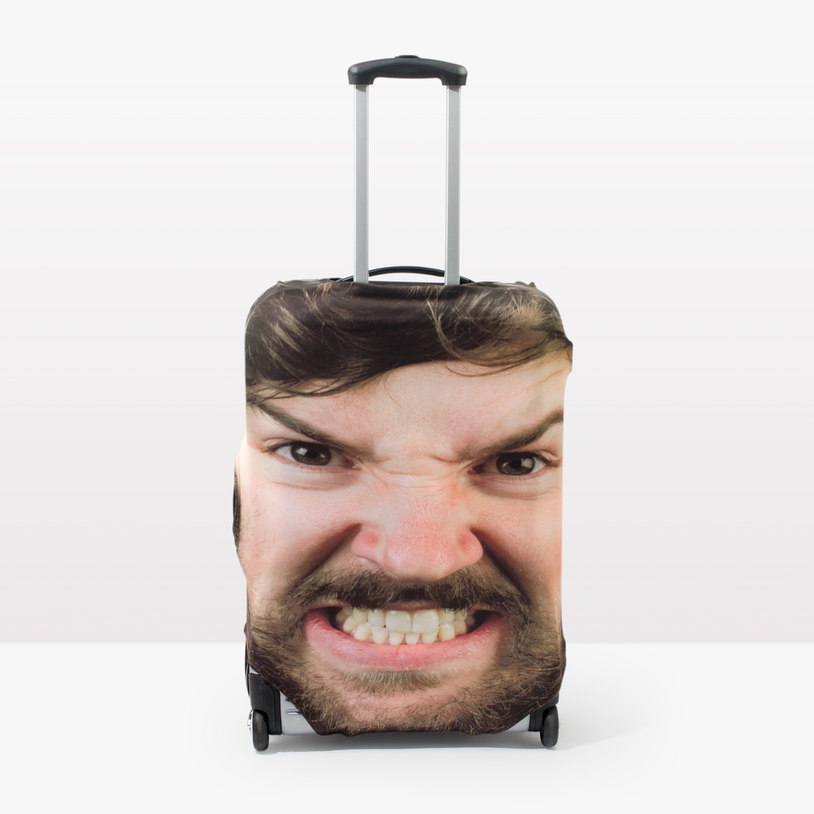 personalized face luggage