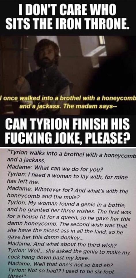 tyrion honeycomb joke