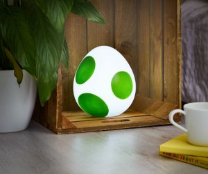Yoshi Egg Lamp – Let's set the scene. You're a mustachioed plumber. A wayward Yoshi has laid an egg in your house, and it's glowing. If you eat mushrooms, you