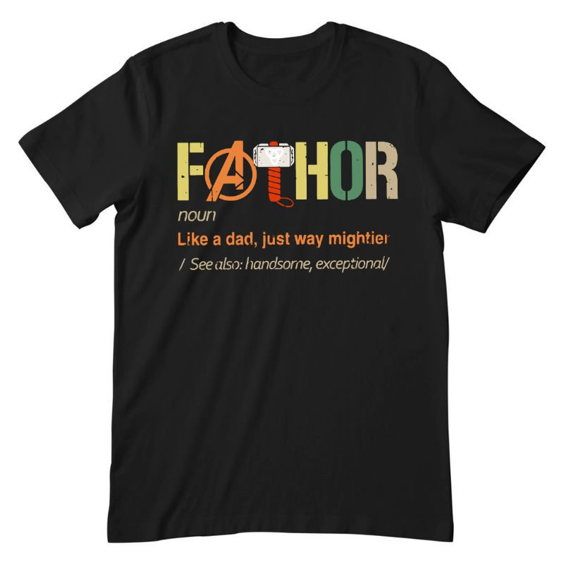 fathor black tee fathers day shirt