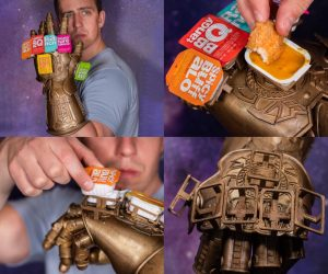 The Infinity Saucelet – Wield all your favorite fast food sauces at once!