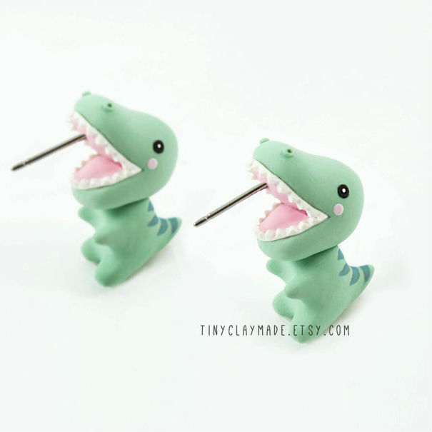 trex earrings