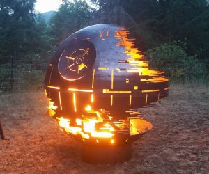 Star Wars Death Star Fire Pit – This IS the fire pit you're looking for. Made from 1/4″ thick carbon steel and precision cut, using advanced manufacturing techniques.