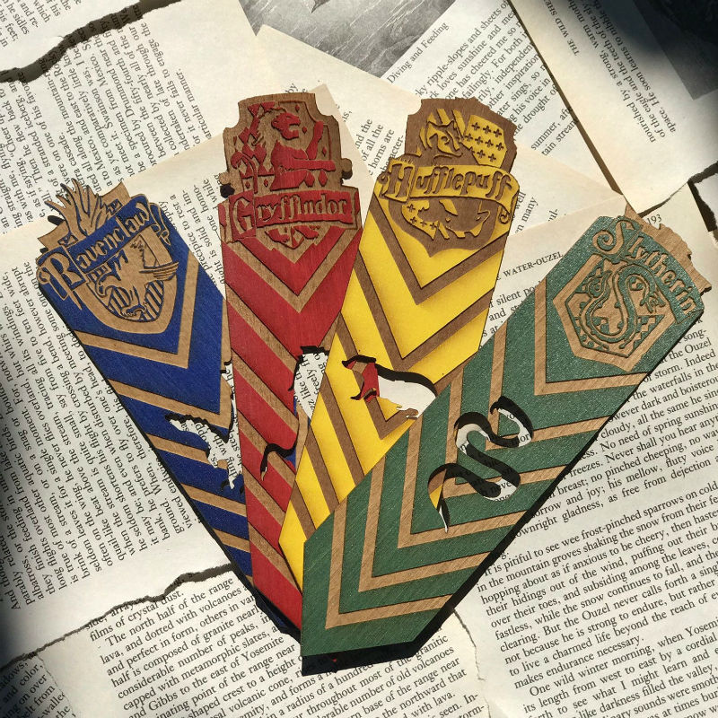 harry potter wooden bookmarks