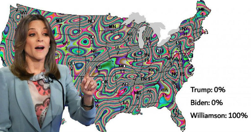marianne williamson election map meme