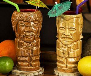 Pulp Fiction Tiki Cups – The bar is open: The 18-ounce Jules mug and the 14-ounce Vincent mug are the perfect pair of drinking cups for any type of brew or