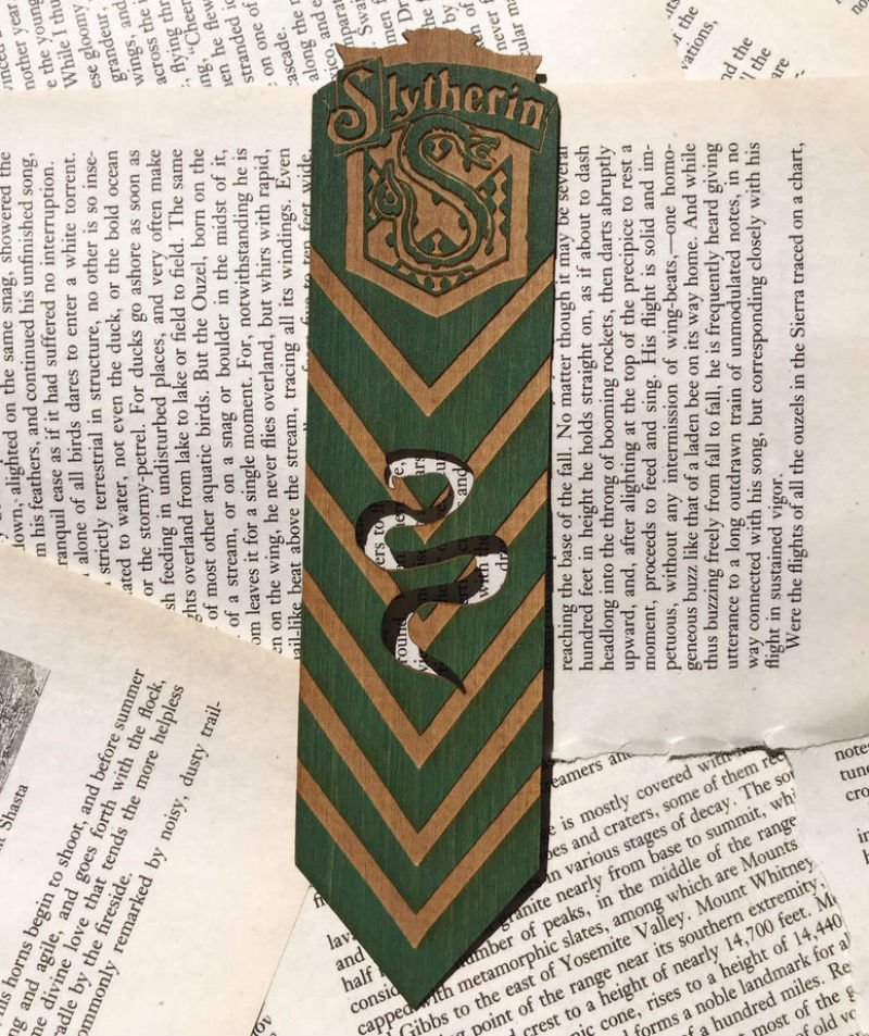 slytherin bookmark
