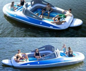 The Inflatable Speed Boat – For when you can't afford the real thing