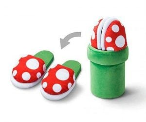 Nintendo Piranha Plant Slippers – Slide your feet into the cutest little slippers around.